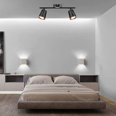 CGC Indoor Adjustable Black Double Twin Ceiling Spot LED Light Bar 4000k Natural White Colour Temperature Bedroom Kitchen Lounge Dining Room