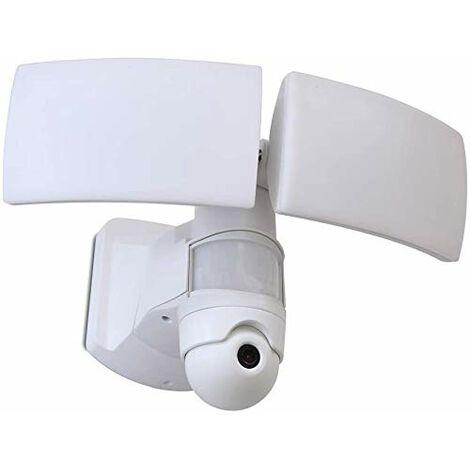 CGC Intelligent Smart Home Camera, PIR & Slim Floodlight Wall Flood Light White Twin Adjustable Heads 38W