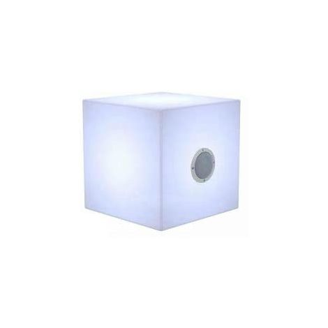 CGC Large Outdoor Garden Cube Light RGB Controllable Colour Changing with Bulit in Blutetooh Speaker 43cm x 43cm x 43cm Floor Table Grass Patio Lawn Garden Modern Furniture Light Trendy Beach Club