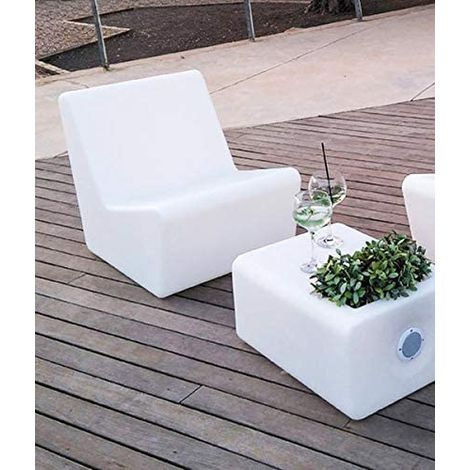 CGC Outdoor Garden Solar Illuminated Chair Seat Light RGB Colour Controllable Colour Changing Grass Lawn Patio Bar Modern Furniture Seating Trendy Beach Club