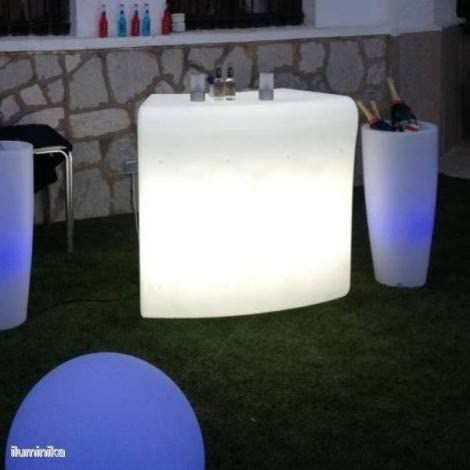 CGC Outdoor Garden Solar Illuminated Drinks Bar Light RGB Colour Controllable Colour Changing Grass Lawn Patio Bar Modern Furniture Trendy Beach Club Modular