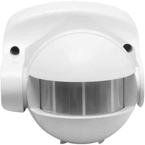 CGC PIR IP44 Infrared Motion Sensor Detector Wall Mount White 10m 180 Degrees