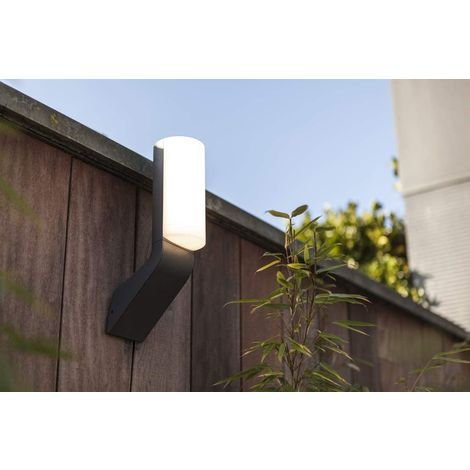 CGC Slim Grey Outdoor 14W LED Wall Light with Opal Diffuser in 4000k Natural White IP44 Ideal For Garden Porch Patio