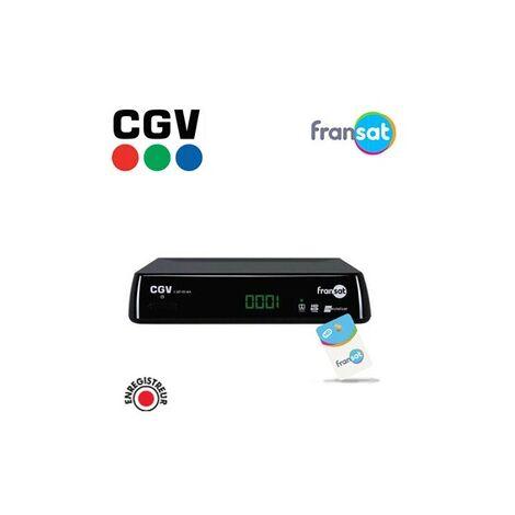 CGV DÉCODEUR SATELLITE HD E-SAT HD-W4 (SANS CARTE FRANSAT)