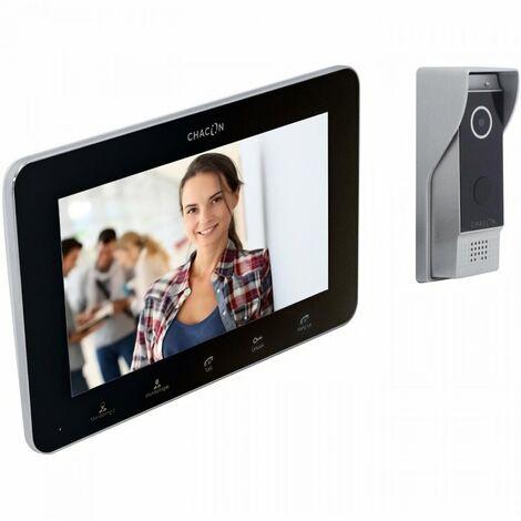 CHACON Portier vidéophone 2 fils + Ecran noir Option internet