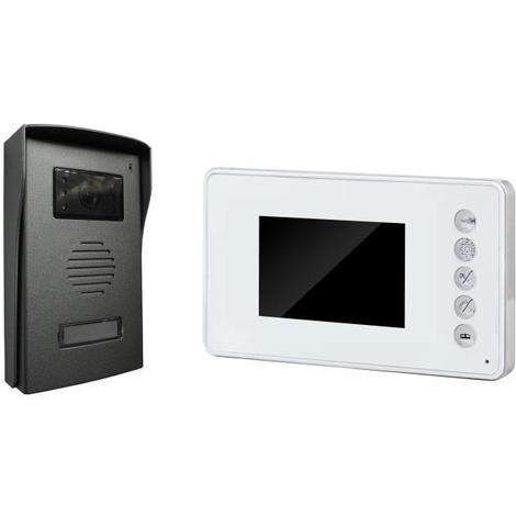 CHACON Visiophone 4 fils écran couleur 3.5 ultra-plat blanc