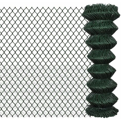 Chain Link Fence Galvanised Steel 1.25x25 m