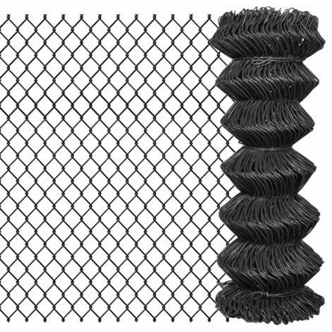 Chain Link Fence Steel 15x1 m Grey