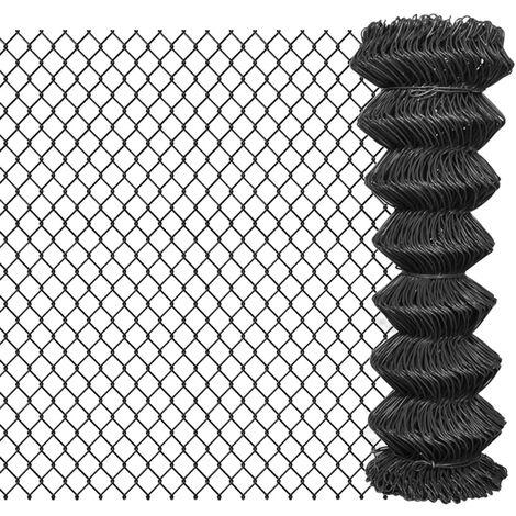 Chain Link Fence Steel 15x1.25 m Grey