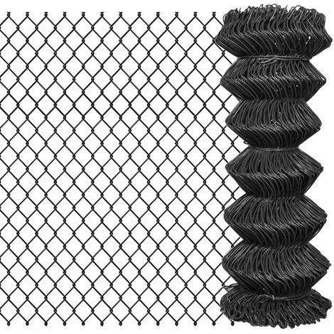 Chain Link Fence Steel 25x1 m Grey
