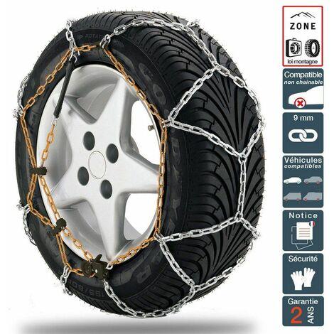 Chaine à neige pneu 205/45R18 montage rapide acier 9mm