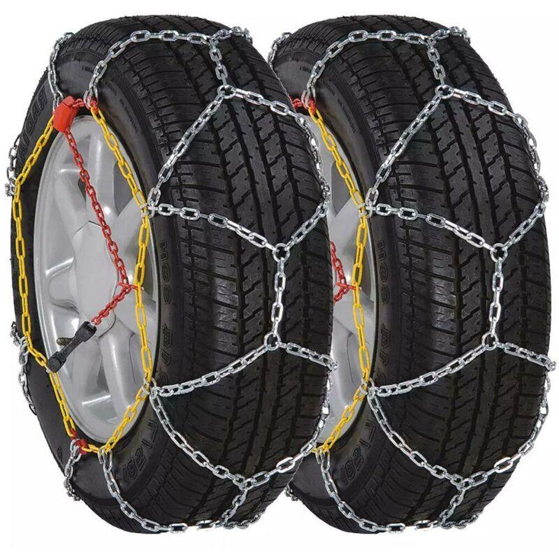 Topdeal VDTD06668_FR Chaîne à neige roue voiture 2pcs 12 mm KN 80