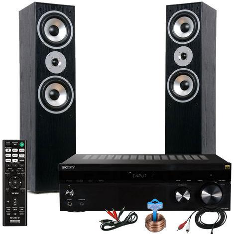 Chaîne hi-fi l'amplificateur et deux baffles HIFI-Premium