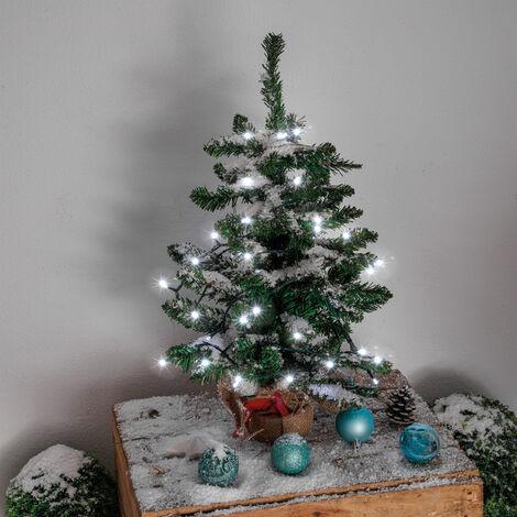 Chaîne lumineuse solaire premium 60 LED Décoration de Noël de jardin blanc froid esotec 102167