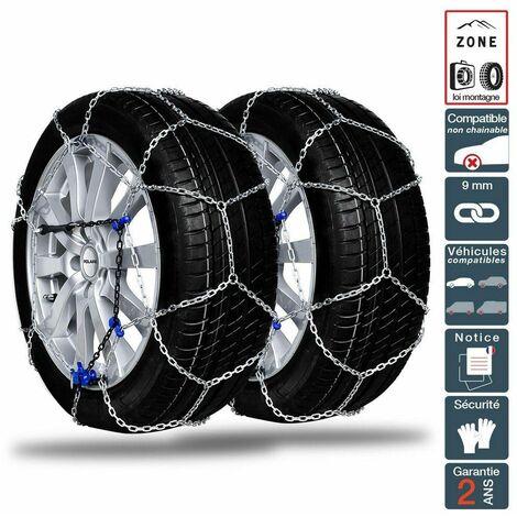 Chaine neige 9mm pneu 215/55R18 montage rapide sécurité garantie
