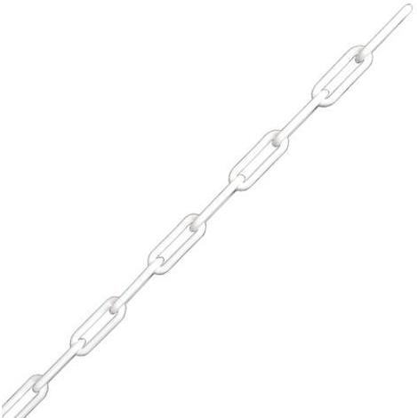 Chaine plastique blanche maille 52 x 21