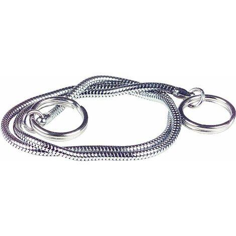 chaine sepentin bilateral avec bague de securite 30 cm convient pour lavabo chrome