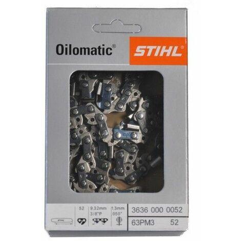Chaine tronçonneuse Stihl 3/8 Lp 52 maillons