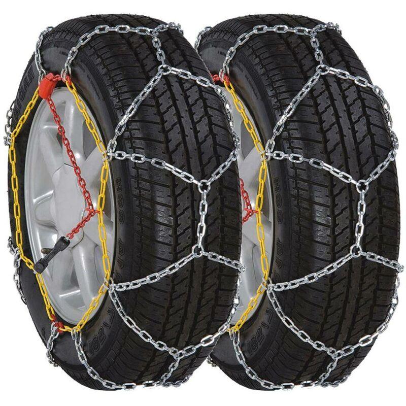 VDTD06666_FR Chaînes de neige roue voiture 2pcs 12 mm KN 185/70-13 175/70-14... - Topdeal