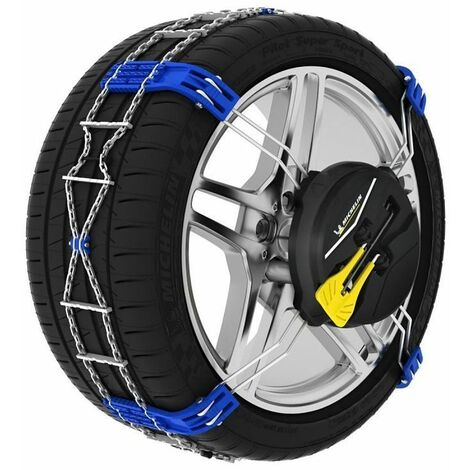Chaines neige Michelin montage automatique Fast grip pneu 225/55R18 245/40R20 245/45R19 - Bleu