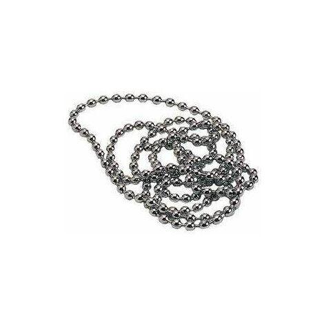 Chaînette perlée diamètre 3.2mm longueur 700mm