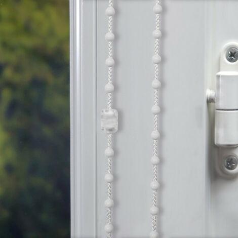 Chainette plastique de 5 mètres pour Store enrouleur avec 1 raccord - E34 - Blanc - Blanc