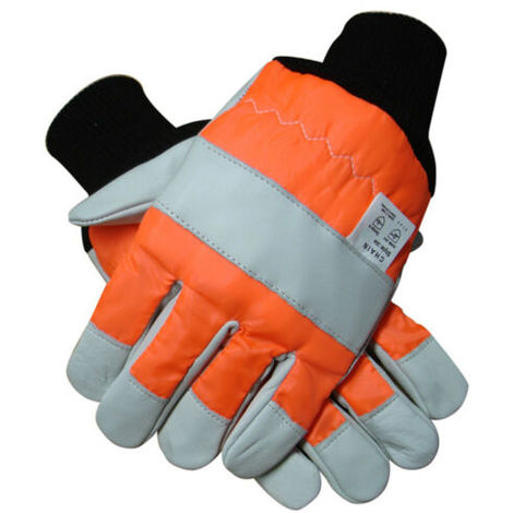 Chainsaw Gloves With Both Hand Protection Pro Quality Large L Size 10