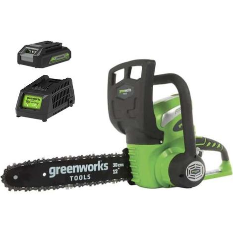 Chainsaw GREENWORKS 40V - 30 cm - 1 battery 2.0 Ah - 1 charger - G40CS30K2