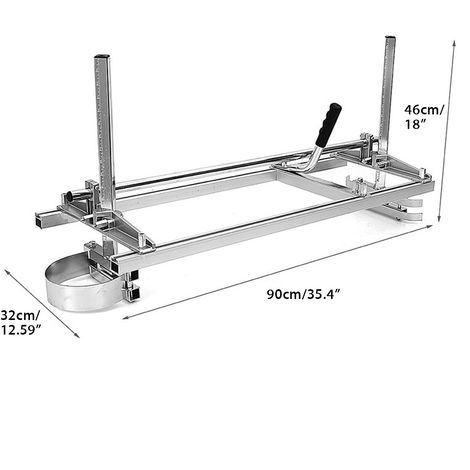 Chainsaw Mill??Ne Portable Fixation Wood Plank Wood From 14 '' To 36 '' Guide