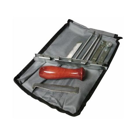 Chainsaw Saw Chain Filing Sharpening Kit c/w Round And Flat Files, Handle, Gauge