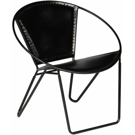 Chair Black Real Leather