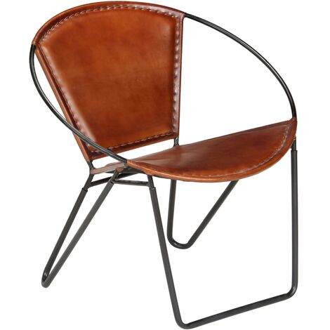 Chair Brown Real Leather