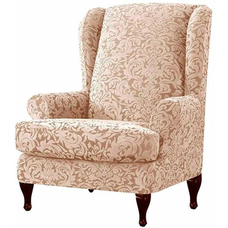Chair Cover Extendable Wing Armchair Protector Furniture Cover WASHED