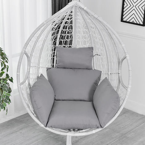 Chair Cushion Chair Cover Hammock Swing Seat Cushion Thick Nest Hanging Chair Back With Gray Pillow