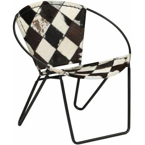 Chair Diamond Black Real Leather