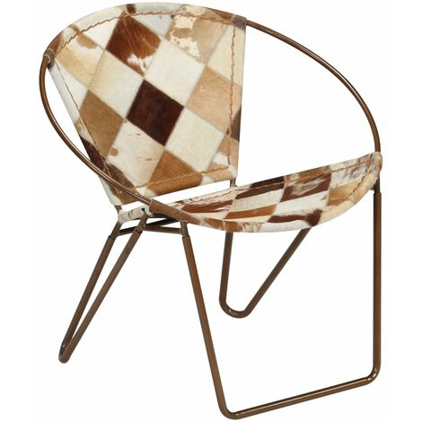 Chair Diamond Brown Real Leather