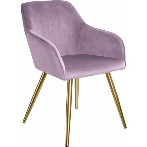 """main image of """"Marilyn Velvet-Look Chair gold"""""""