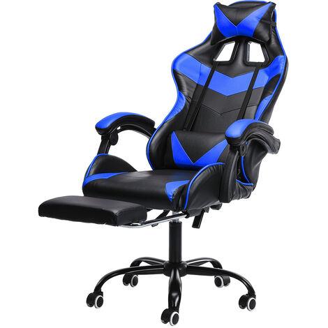 Chair Office Chair Gaming Gamer Swivel Racing Reclining 150 ¡ã Blue Hasaki