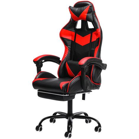 Chair Office Chair Gaming Gamer Swivel Racing Reclining 150 ¡ã Red Hasaki