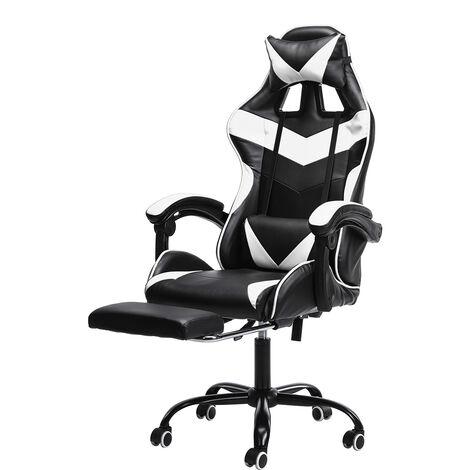 Chair Office Chair Gaming Gamer Swivel Racing Reclining 150 ¡ã White Hasaki