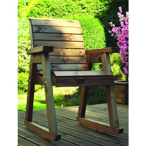Chair Rocker with Green Cushions - Fully Assembled
