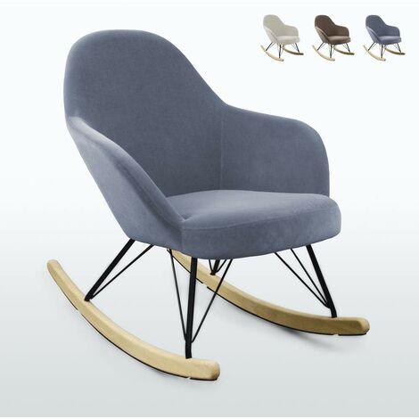 Chaise à bascule au design moderne Eiffel ROCKing en velours