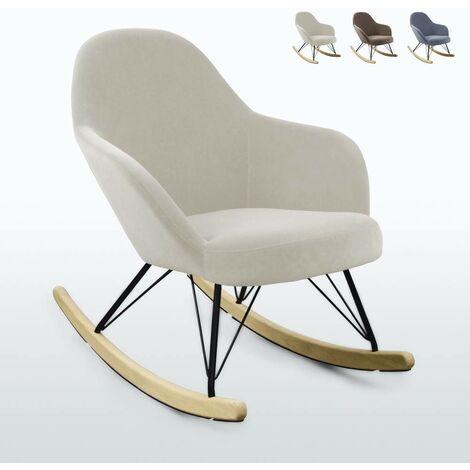 """main image of """"Chaise à bascule au design moderne Eiffel ROCKing en velours"""""""