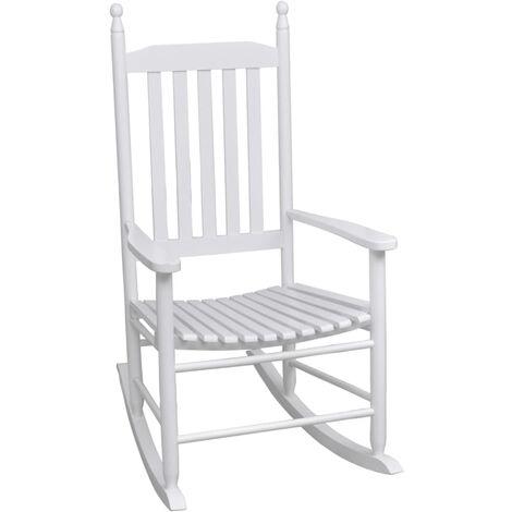 Chaise a bascule avec siege incurve Bois Blanc