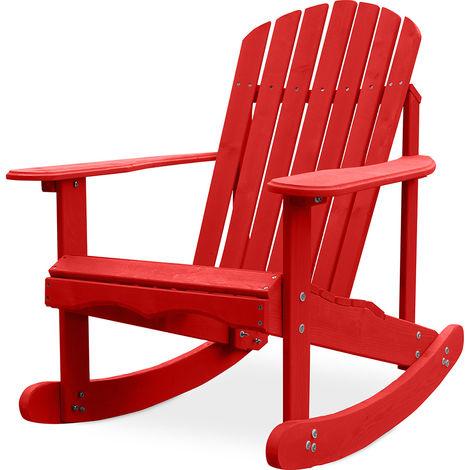 Chaise à bascule de jardin Adirondack Rouge