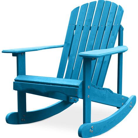 Chaise à bascule de jardin Adirondack Turquoise