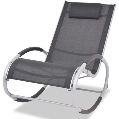 Chaise A Bascule De Jardin Aluminium Et Textilene