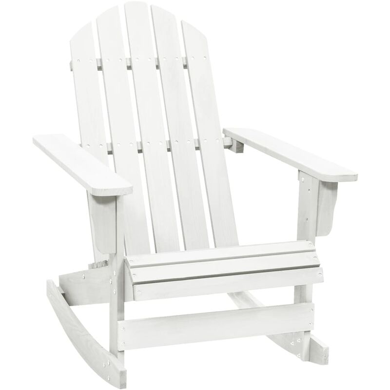 Vidaxl - Chaise à bascule de jardin Bois Blanc