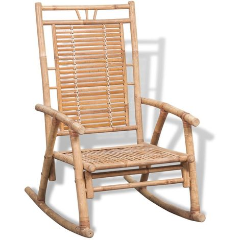 Chaise a bascule en bambou