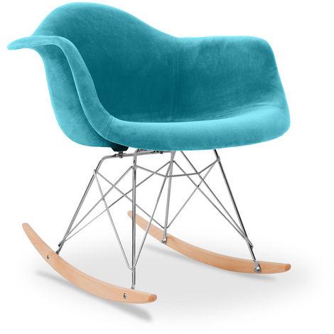 Chaise à bascule Rarwick - Full Tissu Chocolat